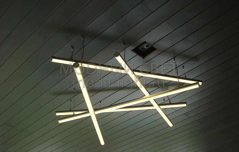люстра из профиля для светодиодной ленты фото