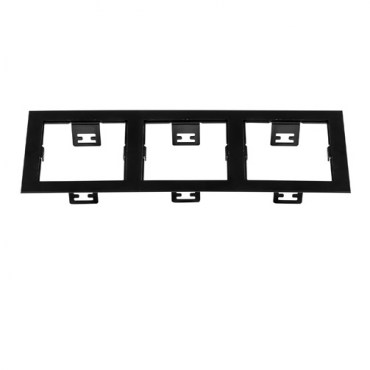 Рамка Lightstar 214537 DOMINO Triple QUADRO Black