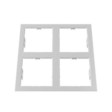 Рамка Lightstar 214546 DOMINO QUADRO 2x2 White