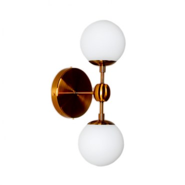 Бра Modo Sconce 2 Globes Copper 12419