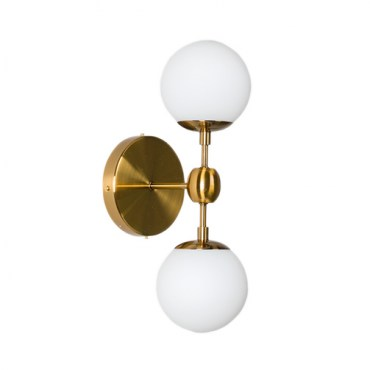 Бра Modo Sconce 2 Globes Gold 12417